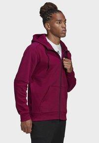 adidas Performance - MUST HAVES FULL-ZIP STADIUM HOODIE - Zip-up hoodie - purple - 3