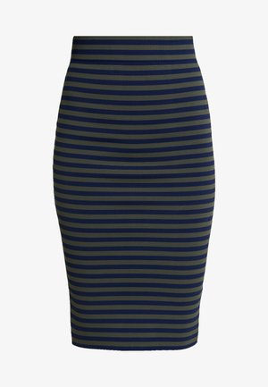 STRIPE MIDI SKIRT - Blyantskjørt - dark blue