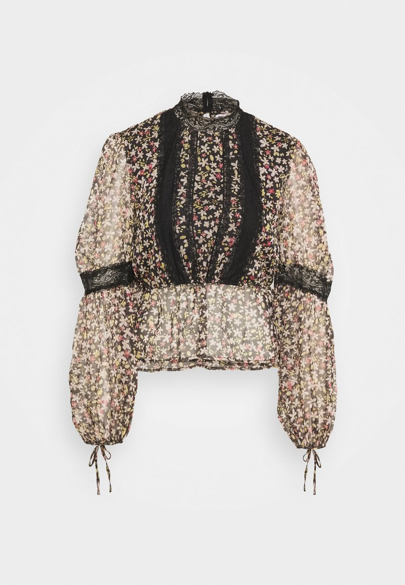Topshop - INSERT BLOUSE - Blouse - multi-coloured