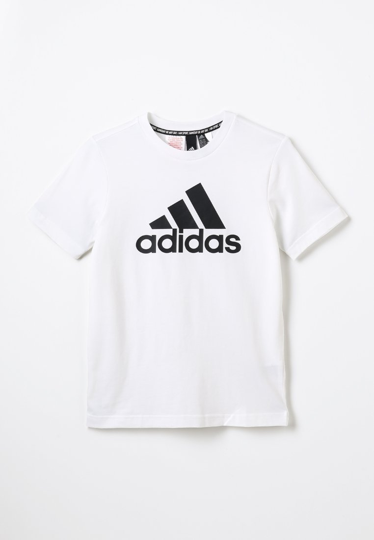 adidas Performance - ESSENTIALS SPORTS SHORT SLEEVE TEE - T-shirt con stampa - white/black