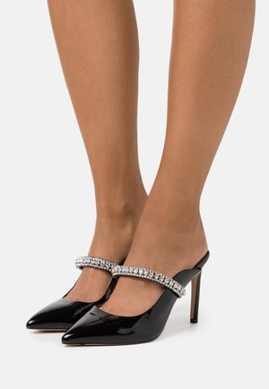 DUKE - Heeled mules - black