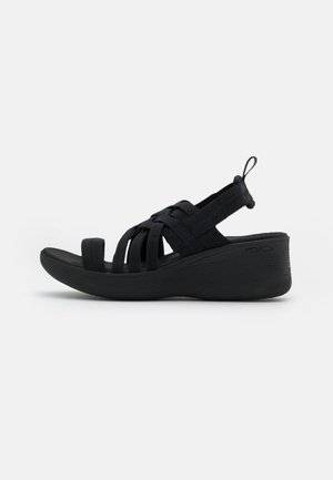 PIER LITE - Sandalias con plataforma - black gore