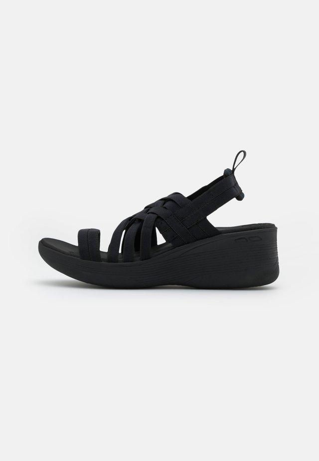 PIER LITE - Platform sandals - black gore
