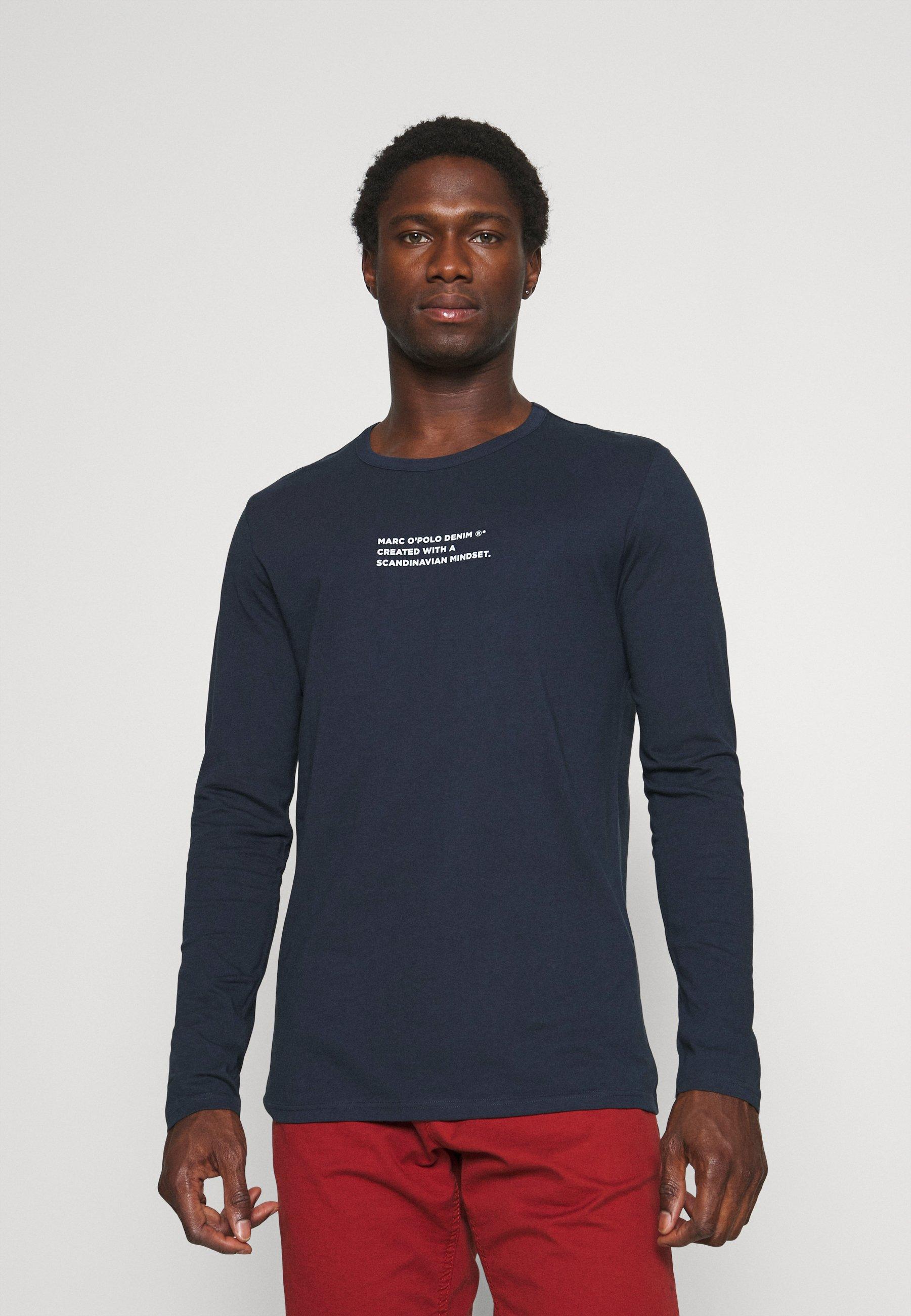 Men LONG SLEEVE LOGO PRINT TEXT - Long sleeved top