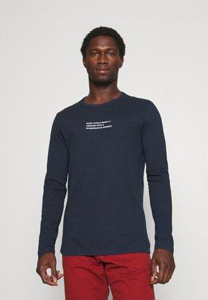 LONG SLEEVE LOGO PRINT TEXT - Long sleeved top - midnight blue