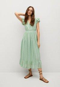 Mango - Day dress - pastelowa zieleń - 0