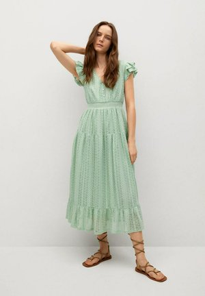 Vestido informal - pastelowa zieleń