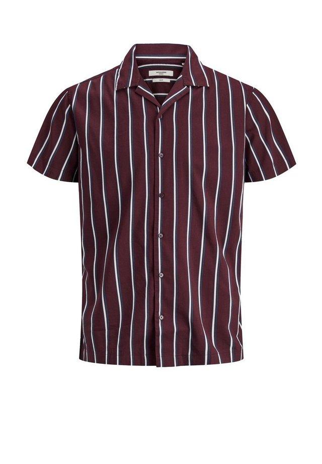 JPRBLASTRIPE RESORT SHIRT RELAX - Shirt - zinfandel