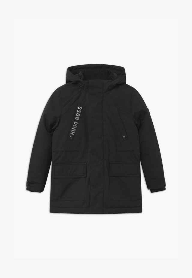 HOODED - Winter coat - black