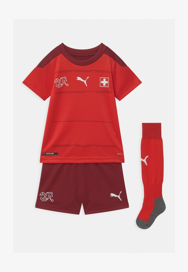 SCHWEIZ HOME SET UNISEX - Sports shorts - puma red/pomegranate
