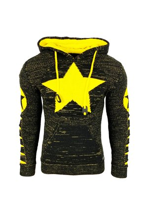 Hoodie - schwarz / gelb