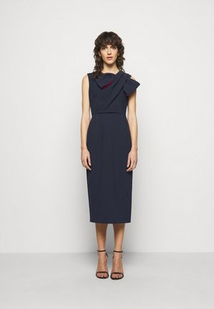 FLANDRE DRESS - Shift dress - midnight/sangria
