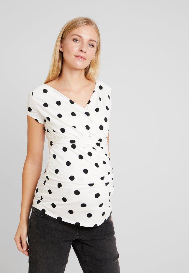 SOLANGE - Camiseta estampada - white