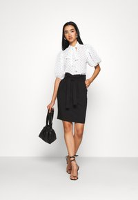 ICHI - IHUDELE - Pencil skirt - black - 1