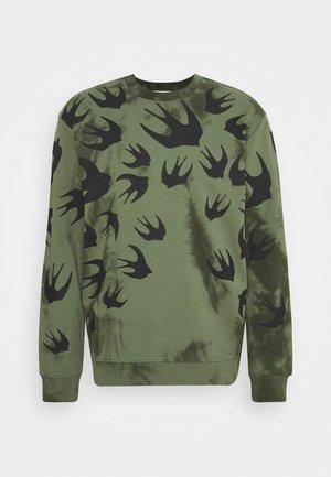 CREW NECK TIE DYE  - Sweatshirt - olive