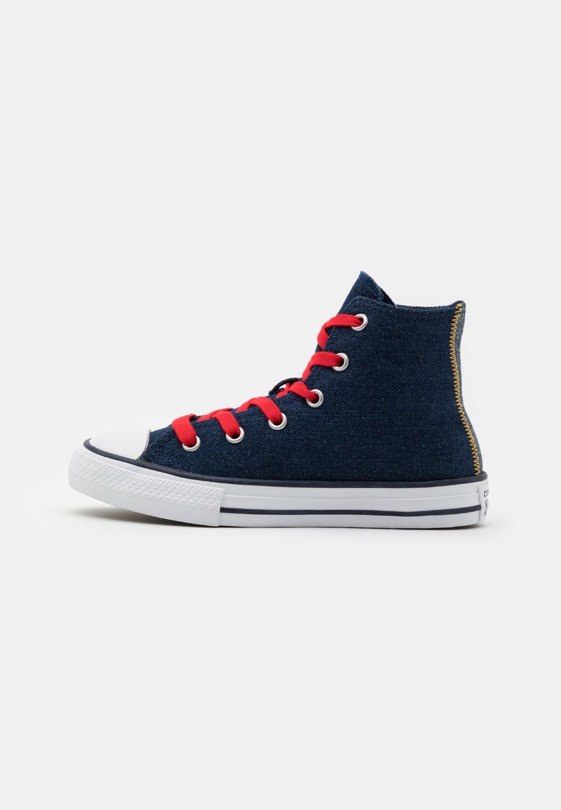 Converse - CHUCK TAYLOR ALL STAR UNISEX - Baskets montantes - obsidian/sunflower gold/university red