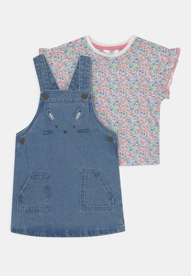 Marks & Spencer London - BUNNY PINNY SET - Print T-shirt - blue denim
