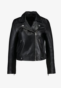 Selected Femme - SLFKATIE JACKET - Kurtka skórzana - black - 4