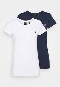 EYBEN SLIM 2 Pack - Basic T-shirt - sartho blue/white