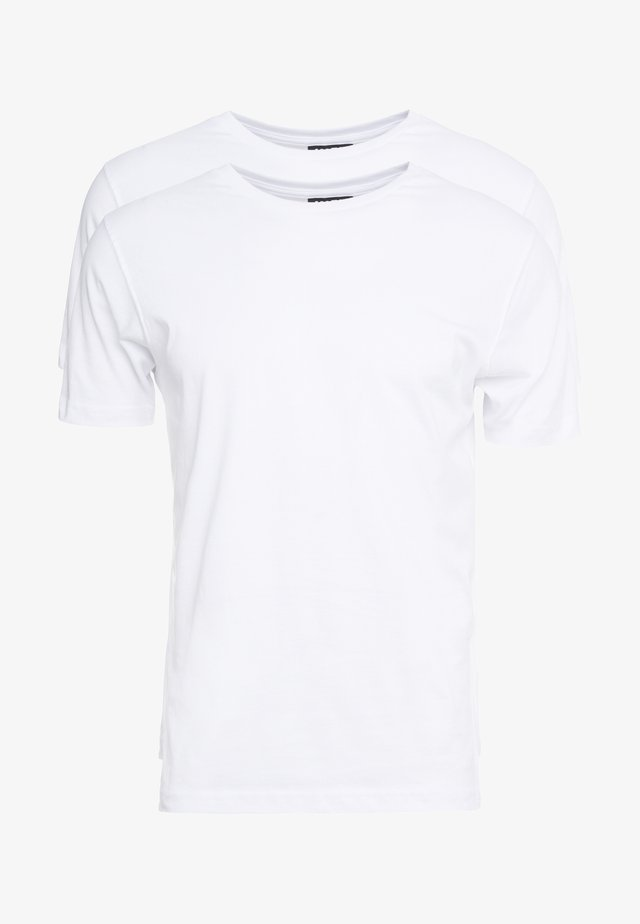 CREW NECK 2 PACK - T-shirts - white