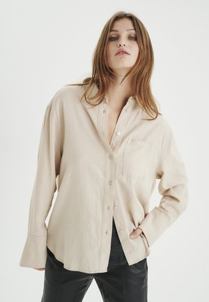 LOVAIW - Button-down blouse - sandstone