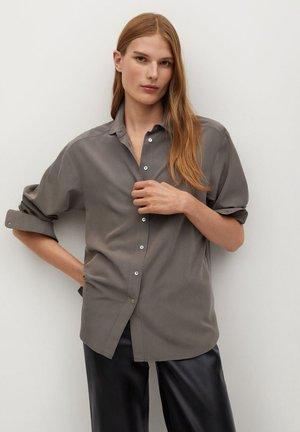 TENCI-A - Button-down blouse - marron moyen