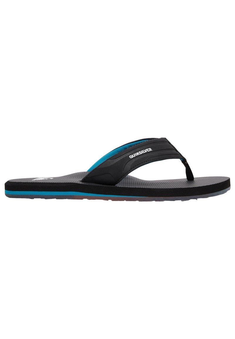 Quiksilver - T-bar sandals - black/black/blue