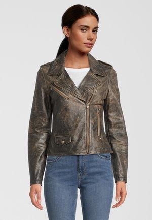 Leather jacket - espresso
