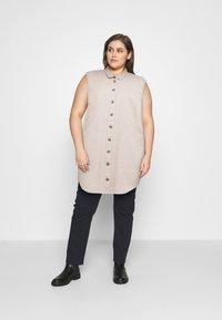 Noisy May Curve - NMALMA CAPSLEEVE DRESS  - Shirt dress - chateau gray - 1