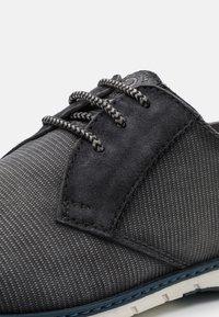 Bugatti - SILVAN - Casual lace-ups - black - 5
