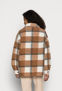 Rich & Royal - JACKET CHECKED - Light jacket - chocolate brown - 2