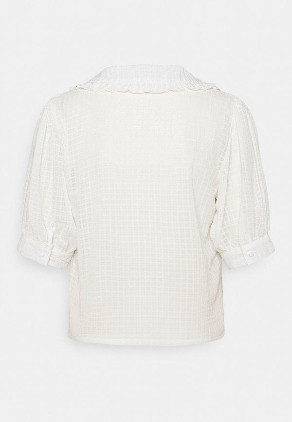 Missguided Tall EXAGGERATED COLLAR BUTTON THROUGH BLOUSE - Bluzka - white/biały XHOX