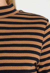 edc by Esprit - FULL NEELDE MOCK NECK STRIPED - Long sleeved top - bark - 4