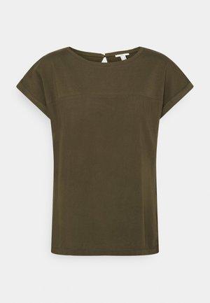 FABRIC MIX - T-shirt basic - khaki green