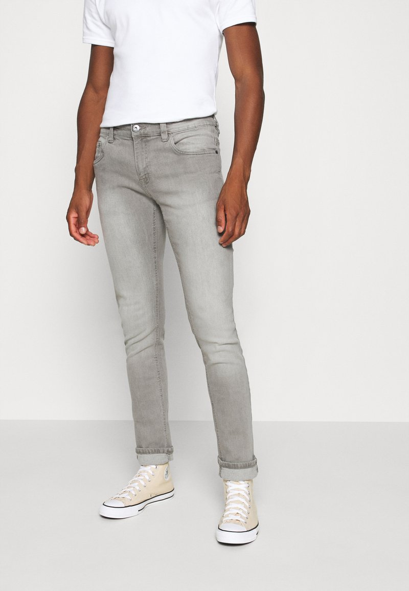 INDICODE JEANS - PITTSBURG - Slim fit jeans - light grey