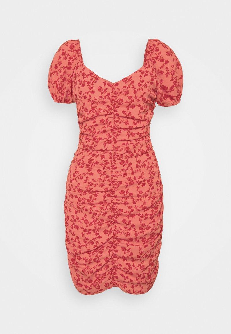 VILA PETITE - VIPHILLA RUCHED DRESS - Shift dress - barberry
