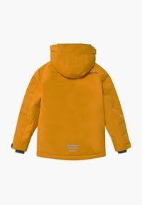 TrollKids - KIDS HOLMENKOLLEN SNOW JACKET PRO - Kurtka snowboardowa - golden yellow/mystic blue - 1