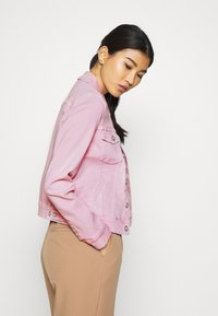 Marc O'Polo - JACKET BUTTON CLOSURE GARMENT DYED - Denim jacket - bleached berry - 4