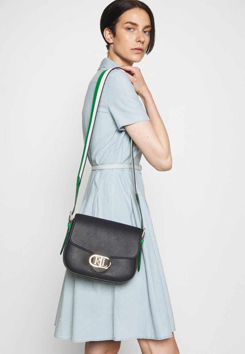 Lauren Ralph Lauren - ADDIE CROSSBODY MEDIUM - Across body bag - dark blue