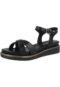 Tamaris - 1-28225-26  - Sandals - black leather - 1