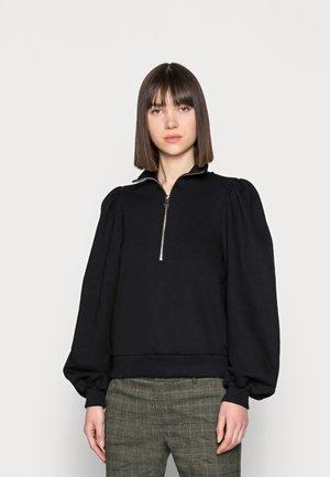 NANKITA ZIPPER SWEATSHIRT - Sweatshirt - black
