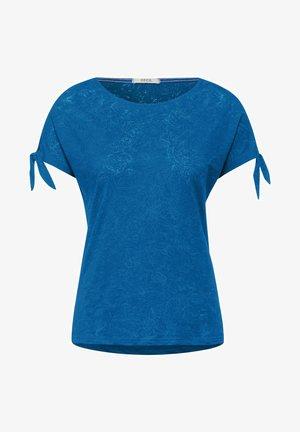 BURNOUT OPTIK - T-shirt con stampa - blau