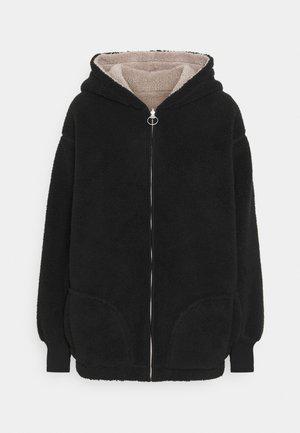 REVERSIBLE SHERPA - Fleece jacket - black/grey