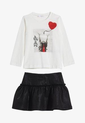 SET - A-line skirt - black/white