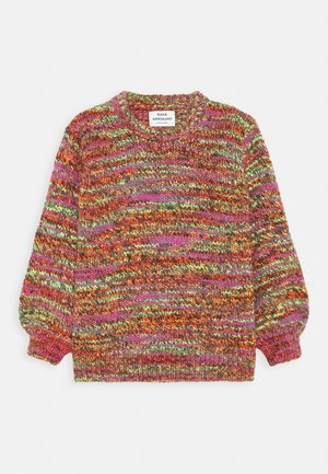 TEMPO KOLLINA - Strickpullover - multi/neon orange