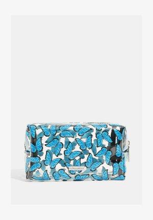 BUTTERFLY GLITTER MAKEUP BAG - Wash bag - blue