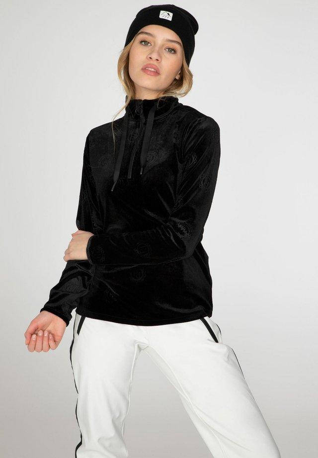 Fleece trui - true black