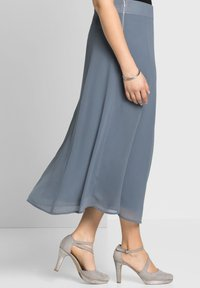 Sheego - A-line skirt - blaugrau - 3