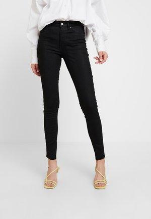 ONLBLUSH RAW SNAKE - Jeans Skinny Fit - black
