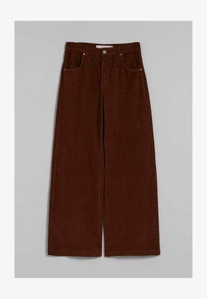 WIDE LEG  - Pantalon classique - brown
